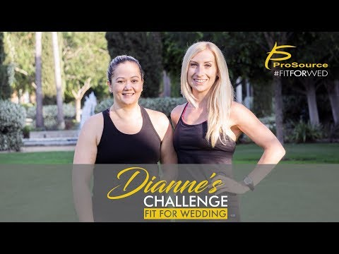 Dianne's Challenge: Fit for Wedding is all about one woman's journey to lose 20-30 pounds before her wedding.This video and blog series will track Dianne's journey and show viewers how to lose weight, workout, eat healthy, deal with stress, and much more! For the next few months leading up to her wedding, Dianne will be working out twice per week with in-house personal trainer, Holly Pinkham, and using ProSource equipment to reach her goals.