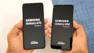 Samsung Galaxy A70 vs Galaxy A50 SpeedTest & Camera Comparison