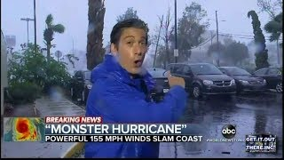 News Reporter's In Trouble During Hurricane Michael