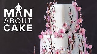 #FanAboutCake: Piped CHERRY BLOSSOM Cake | Man About Cake with Joshua John Russell