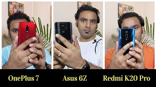Redmi K20 Pro vs OnePlus 7 vs Asus Zenfone 6Z - Comparison | Best Smartphone Under 35000 | Hindi