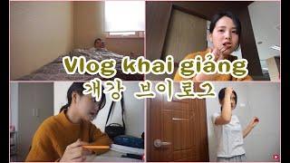 [Daily Vlog - Vietsub] (Lại là) Ngày Khai Giảng, Công Việc mới của Ánh  개강브이로그     Sunny's Colour