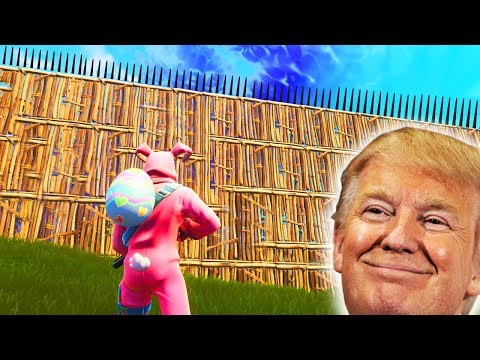 I Built Donald Trumps Great Wall In Fortnite...