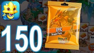 Dragon City - Gameplay Walkthrough Part 150 - Level 50, Epic Dragon Pack (iOS, Android)