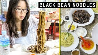 BLACK BEAN NOODLES ♦ Chinatown in South Korea ft  Lamb Skewers