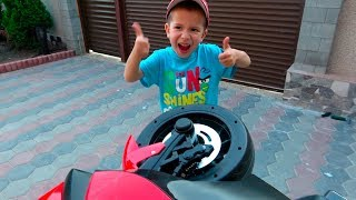 Unboxing Anssembling and riding Sportbike BMW 12 volt - Children's bike