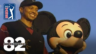 Tiger Woods wins 1999 National Car Rental Golf Classic/Disney Chasing 82