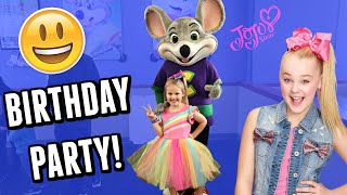 Gretchen's 6th BIRTHDAY! | JoJo Siwa Party At Chuck E Cheese!