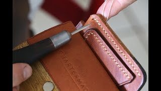 How to: Hand stitching leather with traditional saddle stitch