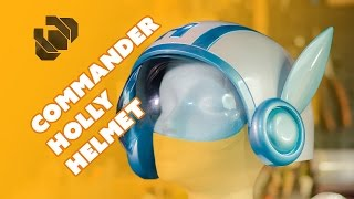 How to 3D Model and Print Commander Holly's Helmet - Prop: 3D