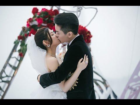 陈晓陈妍希婚礼全程回顾 新人三度拥吻