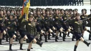 I put some Bee Gees music over North Korean marching