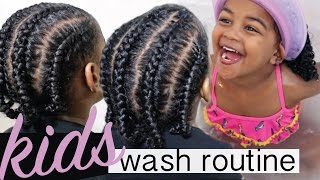 KIDS WASH DAY + Protective Style - Start to Finish | Kids Natural Hair Care Regimen