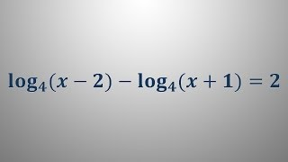 Logaritemska enačba 12