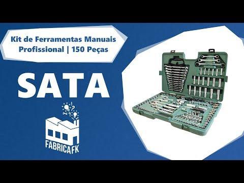 Jogo de Ferramentas 150 Peças Sata ST09510SJ - Vídeo explicativo