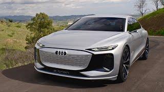 Audi A6 e-tron 2022 Concept - DRIVING & CRAZY ELECTRIC sound