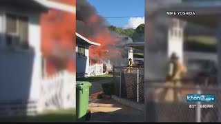 Tragedy in East Oahu as woman, child killed in explosive house fire