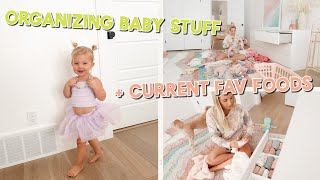 baby #2 prep!! organizing clothes, deep cleaning & easy 15 minute vegan dinner!