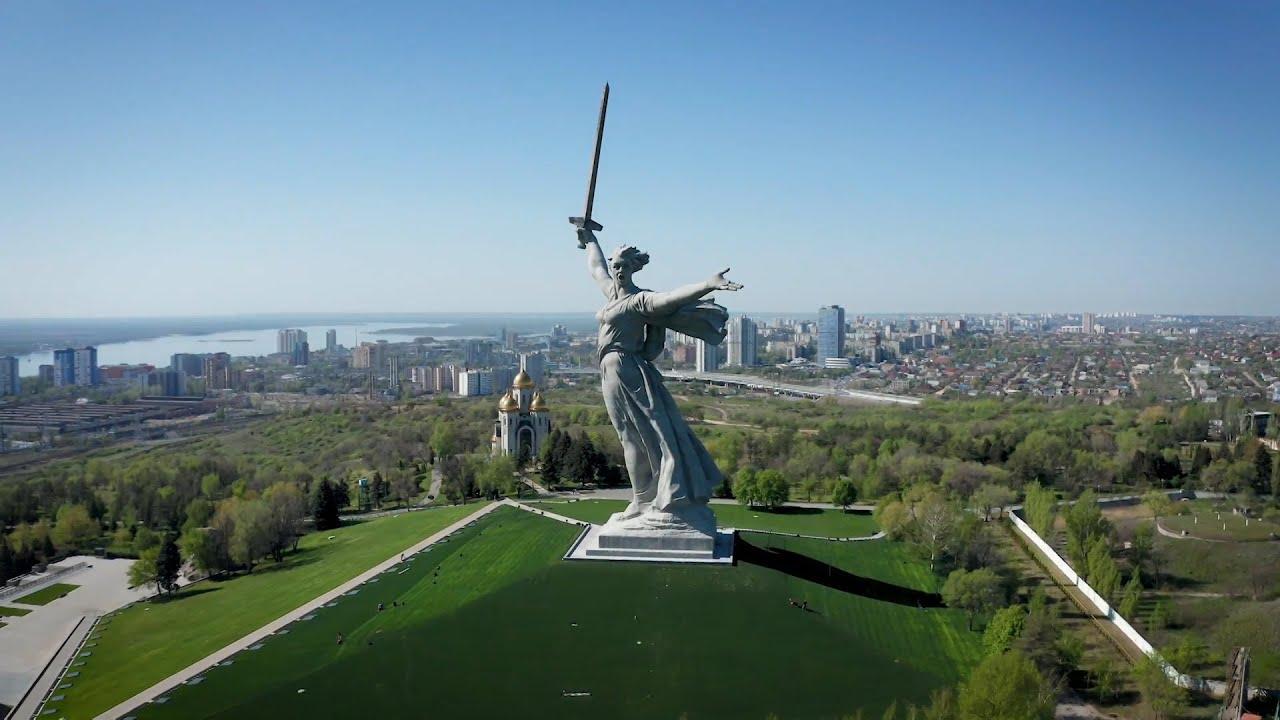 Отреставрированный монумент «Родина-мать» в Волгограде