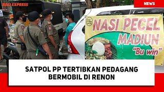 Satpol PP Tertibkan Pedagang Bermobil di Renon