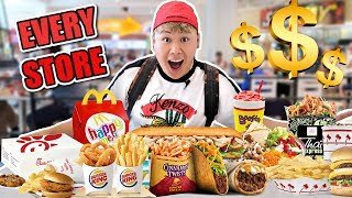 I Bought Everything From EVERY Fast Food Store In The Mall (IMPOSSIBLE FOOD CHALLENGE)