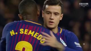 Barcelona vs Alaves (2-1) Jan 28, 2018  HD  Full Match (1st Half)