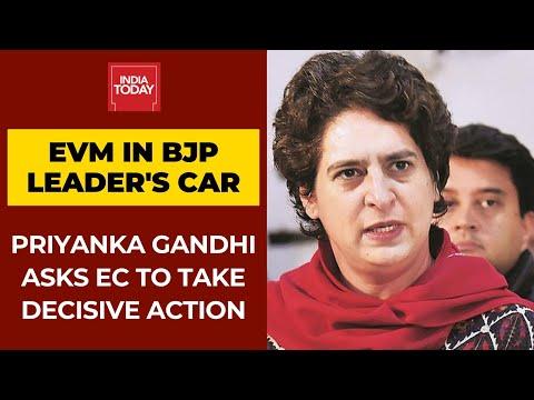 EVM found In BJP candidate's Car in Assam: Priyanka Gandhi
