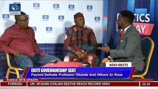 Adeyeye, Oguntuase Disagree Over Conduct Of Governorship Election |Politics Today|