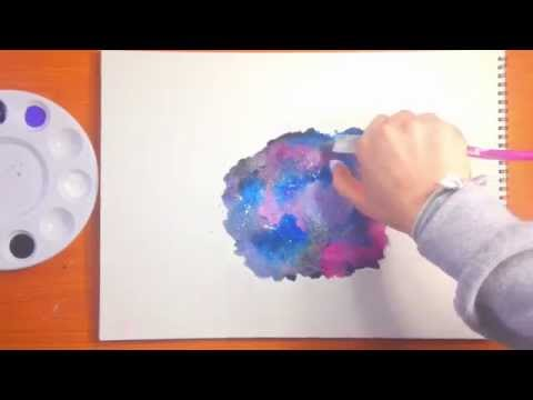 Galaxy Watercolor Tutorial Galaxy Watercolor Painting