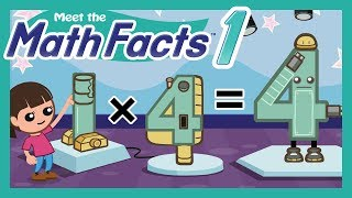 Meet the Math Facts Multiplication & Division - 1 x 4 = 4