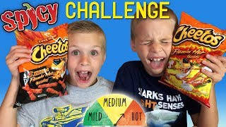 Twins SPICY HOT Cheetos Challenge! - YouTube