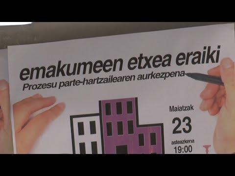 Emakumeen Etxea definitzeko parte-hartze prozesu irekia jarri du abian Tolosako Udalak