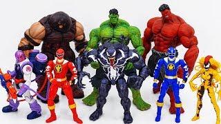 Power Rangers & Marvel Avengers Toys Pretend Play   Hulk & Super Hero vs Villains Army Full EPISODE