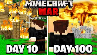Surviving 100 Days in a Minecraft WAR.. here's what happened