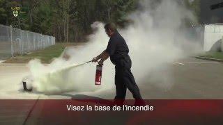 Utilisation d'un extincteur d'incendie