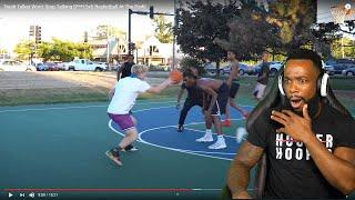 TJASS DISRESPECTED HIM! Trash Talker Won't Stop Talking S***! 5v5 Basketball At The Park!