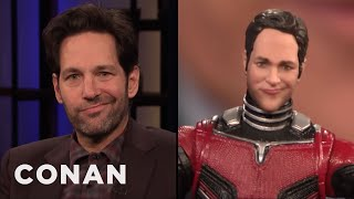 "Paul Rudd Thinks His ""Ant-Man"" Action Figure Looks Like An Asshole - CONAN on TBS"