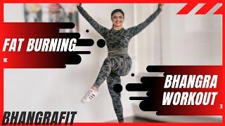 Bhangra Workout At Home | 24 Minutes Fat Burning Cardio | BhangraFit | DJ Frenzy | Love Friday Mix