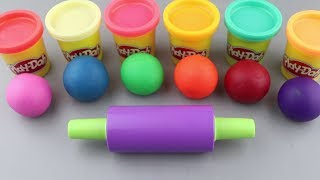 Making 6 Colors Play Doh Lollipop with Wild Animals Molds | Learn Colors & Kinder Surprise Toys