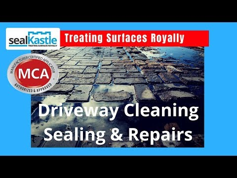 Driveway Cleaning Sealing and Repairs in Mississauga Ontario by SealKastle