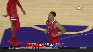 Texas Tech vs Kansas State Men's Basketball Highlights