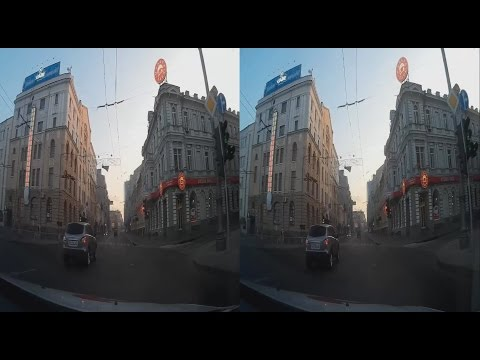 Morning Patrol 3D! Drive in a Police Car ! 3D VIDEO