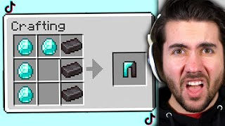 I Tested Viral TikTok Minecraft Hacks To See If They Work!