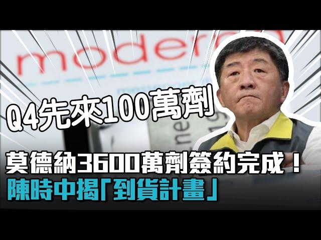 【有影】莫德納3600萬劑簽約了!陳時中親揭到貨時程 第4季先來100萬劑
