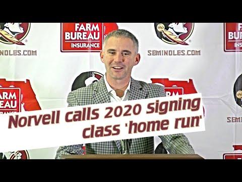 FSU head football coach Mike Norvell on February signees, recruiting class