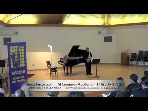 WSCXVI LYNN KLOCK & LAURA KLOCK   Prelude for Saxophone Alone by Emmanuel Rubin