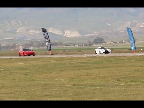 Chevy Corvette races a Dodge Viper at Shift-S3ctor Coalinga 2016
