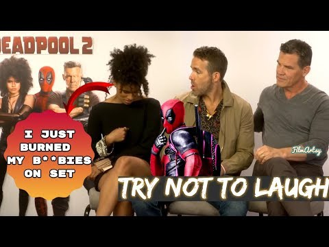 Deadpool 2 Bloopers and Funny Moments - Try Not To Laugh 2018