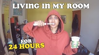 living in my room for 24 hours | clickfortaz