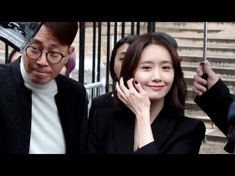 SHINee and Girls' Generation's stars Minho 민호 and YoonA 임윤아 - Givenchy fashion show in Paris - 03/04